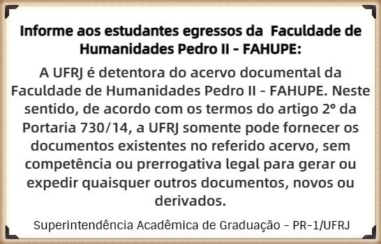 Informe - Faculdade de Humanidades Pedro II (FAHUPE)