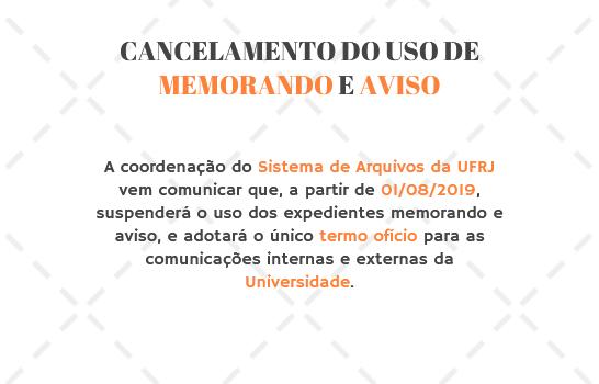 Cancelamento do Uso de Memorando e Aviso