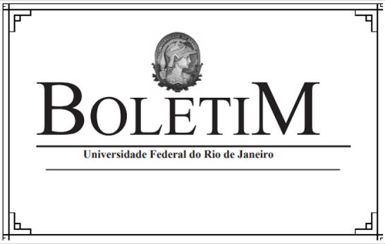 Boletim UFRJ - 2019